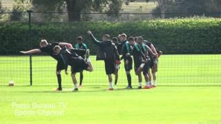 getlinkyoutube.com-Arsenal Training pre Arsenal vs Olympiakos