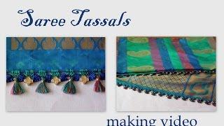 getlinkyoutube.com-Saree tassals with crochet