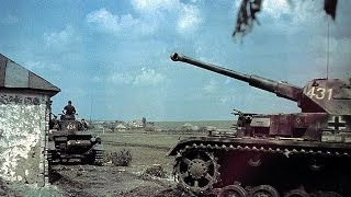 WW2 in color HD || Nazi German Panzer & Tiger Tanks in action || Rare color film