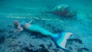 getlinkyoutube.com-Mermaid Melissa swimming with Manatee