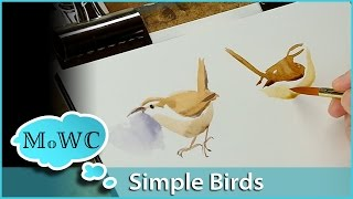 getlinkyoutube.com-How to Paint Birds in Watercolor – Simply, Quickly and Expressively.