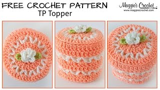 V-Stitch Toilet Paper Topper Free Crochet Pattern - Right Handed