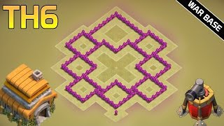 getlinkyoutube.com-TH6 War Base 2016 | With 2 Air Defenses - Anti Everything CoC Best TH6 Defense Base