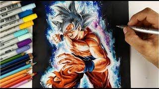 Drawing Goku MASTERED Ultra Instinct Form!