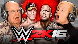 getlinkyoutube.com-ELDERS PLAY WWE 2K16 (Elders React: Gaming)