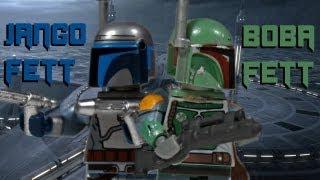 getlinkyoutube.com-Custom LEGO Star Wars Jango Fett & Boba Fett Figures
