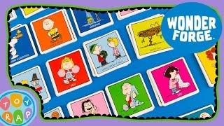 getlinkyoutube.com-PEANUTS Matching Game Review: Learn Memory Skills! Peanuts Toys Charlie Brown ToyRap