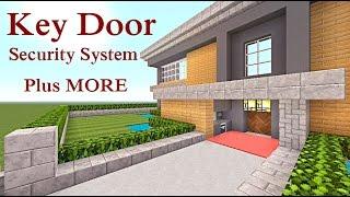 getlinkyoutube.com-Minecraft Tutorial : Key Door with Security System