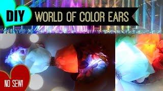 getlinkyoutube.com-DIY NO SEW Floral light up World of Color Minnie Ears