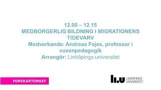 Forskartorget2016 - Medborgerlig bildning i migrationens tidevarv