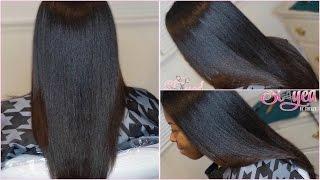 getlinkyoutube.com-Salon Work | Silk Press on Natural Hair | #SlayedByShellySaturdays