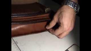 getlinkyoutube.com-Мастер-класс пошив портфеля из чепрака,толстая кожа.