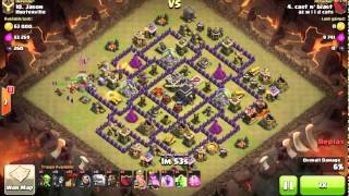 getlinkyoutube.com-Shattered GoLaLoon. TH9 3 Star. Haste Spell. 2 Air Sweepers