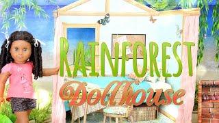 getlinkyoutube.com-DIY - How to Make: AMERICAN GIRL Dollhouse: Rainforest House- Handmade - Crafts - 4K