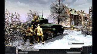 """getlinkyoutube.com-MEN OF WAR (PC): """"The Siege of Bastogne"""" - December 22nd 1944"""