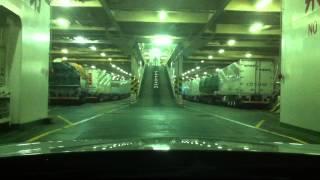 getlinkyoutube.com-【車載動画】名門大洋フェリー・南港で車高短な車両を積載