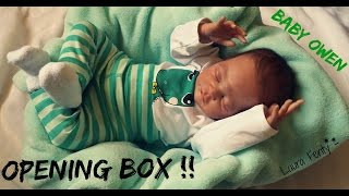 getlinkyoutube.com-♣♠ REBORN BOX OPENING ♠♣ Baby Owen - Kit Lincoln by Laura Lee Eagles (SOLD OUT)