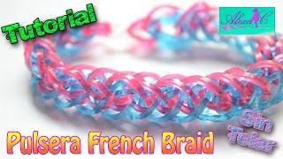 getlinkyoutube.com-♥ Tutorial: Pulsera French Braid de gomitas (sin telar) ♥