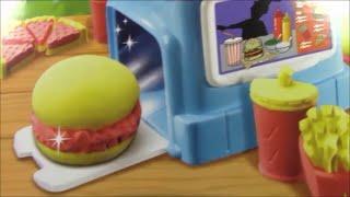 getlinkyoutube.com-Moon Dough  Like Play Doh    Burgers Diner   PlayDough McDonalds Fries Dough Food Hamburguesa de Pla