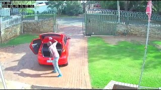 Five minute burglary, despite the gate and barbed wire!   Campbell Window Film