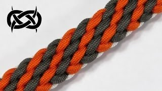 getlinkyoutube.com-How to make a Tiger Stripe Sinnet Paracord Bracelet