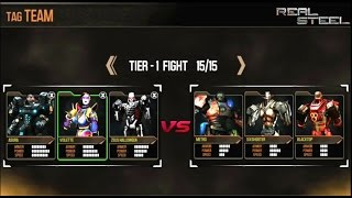 getlinkyoutube.com-REAL STEEL ASURA & Violette & Zeus VS Metro & Blacktop & Six Shooter New Robots Update