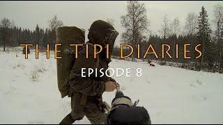 getlinkyoutube.com-The Tipi Diaries Ep08 - Sweden Winter Bushcraft in a Tentipi Safir 7 CP - Sami Tinder Bundle