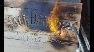 getlinkyoutube.com-How to Make a Drinks Cabinet out of FREE Pallets Jack Daniels Wall Sign