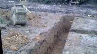 Construction of Foundations, Trench fill concrete pour