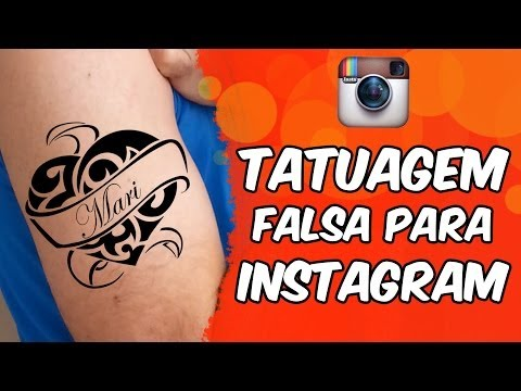 Tatuagem falsa para Instagram (brinquedo)