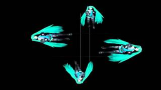 getlinkyoutube.com-MIku Bad Apple hologram video in 4 face view for holographic pyramid