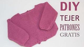 getlinkyoutube.com-DIY Patrones de jersey de lana para primera puesta (gratis)