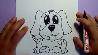 getlinkyoutube.com-Como dibujar un perro paso a paso 23 | How to draw a dog 23