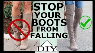 getlinkyoutube.com-How to stop over the knee boots from falling | SHANiA