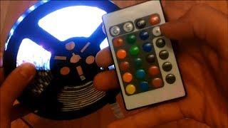 getlinkyoutube.com-Unboxing and Review 5M 5050 RGB 300 SMD LED Strip Lights with remote Controller