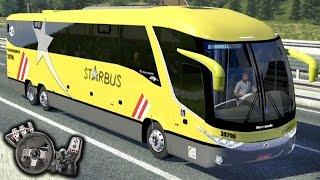 getlinkyoutube.com-Euro Truck Simulator 2 - Viação Itapemirim - StarBus - Freio motor - Paradiso G7 - Com Logitech G27