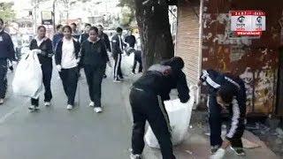 Mussoorie: एलबीएस अकादमी और नगर पालिका ने शहर में स्वच्छ भारत अभियान के तहत सफाई अभियान चलाया