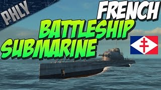 getlinkyoutube.com-Steel Ocean Gameplay- SUBMARINE BATTLESHIP! French Surcouf!