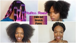 getlinkyoutube.com-How To: Heatless Stretching/Blowout  with CWK Rubber Plates!