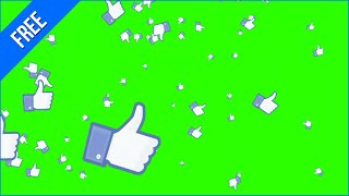 getlinkyoutube.com-Likes Caindo #1 - Likes Falling #1 [Fundo Verde - Green Screen]