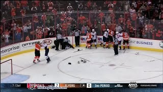 getlinkyoutube.com-Capitals vs Flyers line brawl Nov 1, 2013