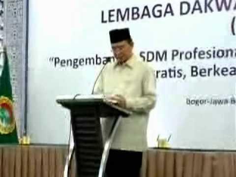 Menteri Agama Drs. Suryadharma Ali MSi di Rakernas LDII 2012 - Part 1