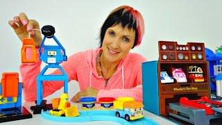 getlinkyoutube.com-Робокар Поли. Цементный завод и магазин шин. Играем с Машей. Видео для детей.