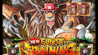 getlinkyoutube.com-[OPTC] Mihawk 0 Stamina Training Forest - Double Monster Chopper