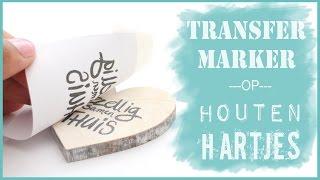 getlinkyoutube.com-Met Transfermarker teksten op houten hartjes overbrengen