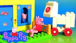 getlinkyoutube.com-Parque de Diversões da Peppa Pig Brinquedos em Portugues BR - Parque de Atracciones de Peppa George