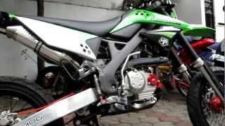 getlinkyoutube.com-TNHM exhaust for KLX 150 / D-Tracker 150