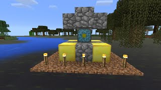 getlinkyoutube.com-Minecraft pocket edition Como fazer portal v0 11.1