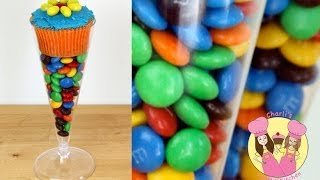 getlinkyoutube.com-COCKTAIL GLASS TAKE HOME CUPCAKE TREAT with M&M's- candy bar, lolly buffet, birthday party