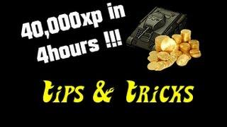 getlinkyoutube.com-40,000xp in 4 Hours Tips & Tricks || World of Tanks